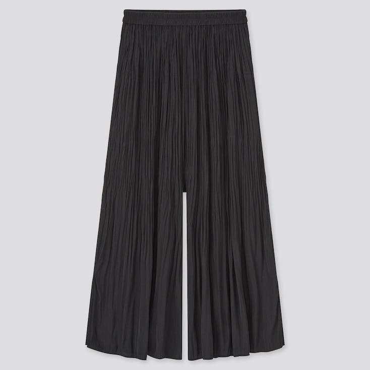 Women Satin Washer Skirt Pants (Online Exclusive), Black, Large
