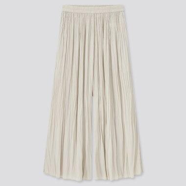 Women Satin Washer Skirt Pants (Online Exclusive), Natural, Medium