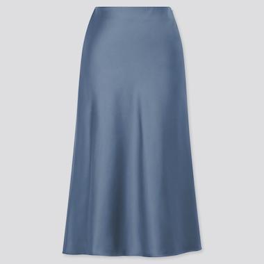 Women Satin Narrow Flared Skirt