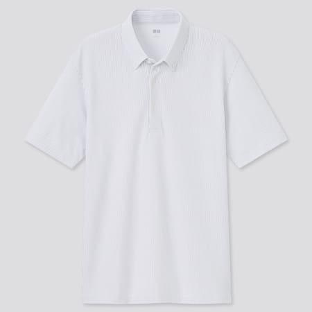 Men AIRism Piqué Striped Polo Shirt