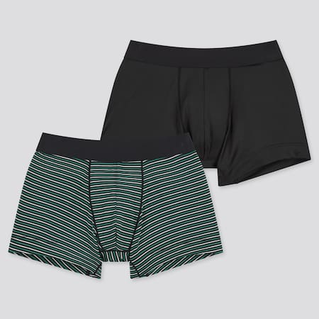 Boys AIRism Striped Boxer Briefs (Two Pack)
