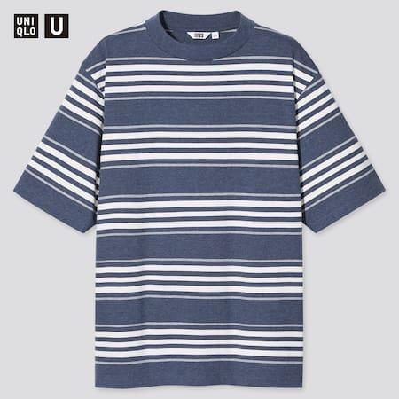 T-shirt Uniqlo U Rayé Homme (Col Rond)