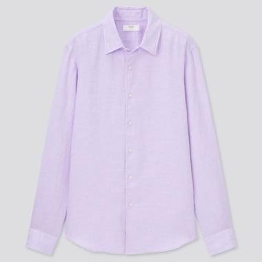 Herren 100% Premium Leinen Hemd