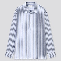PREMIUM LINEN LONG-SLEEVE POPOVER SHIRT