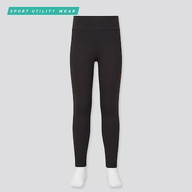 Girls Airism Uv Protection Soft Leggings, Black, Medium