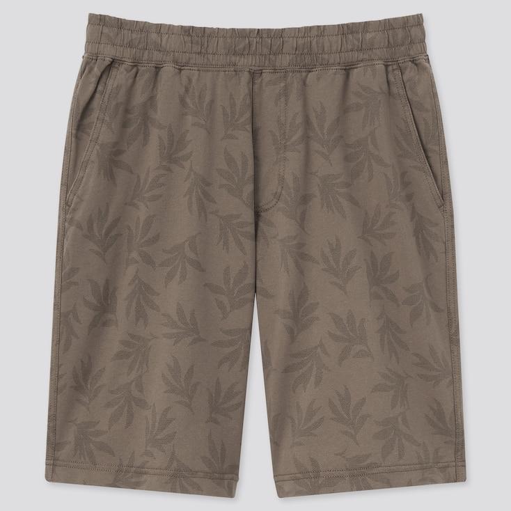 Men Easy Shorts, Brown, Large
