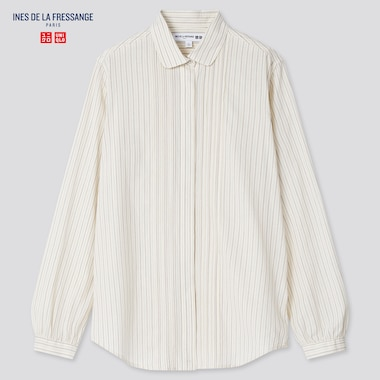 Women Ines Cotton Lawn Striped Long Sleeved Shirt
