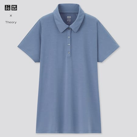Women Theory AIRism A-Line Short Sleeved Polo Shirt