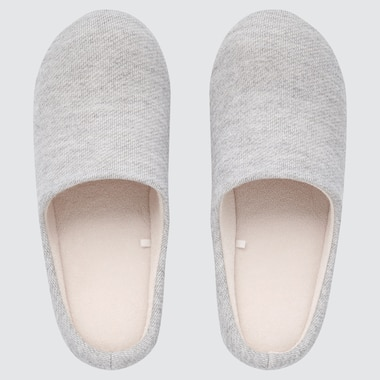 Rubber-Soled Slippers, Gray, Medium