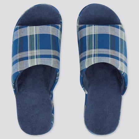 Linen Open Toe Slippers (Rubber Sole)