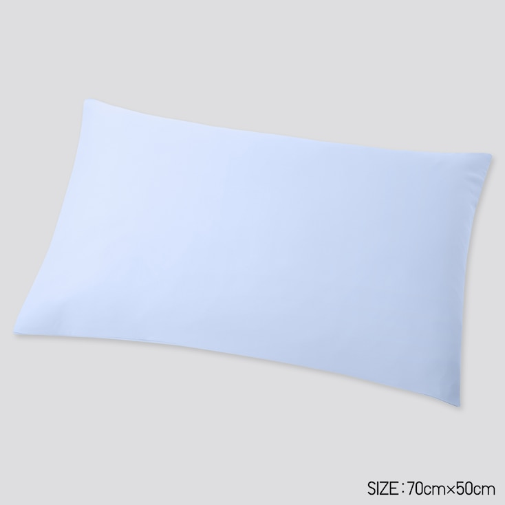 Airism Standard-Size Pillowcase, Light Blue, Large