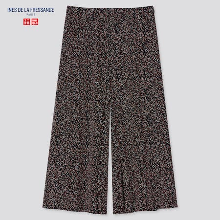 Women Ines Rayon Dotted Culottes