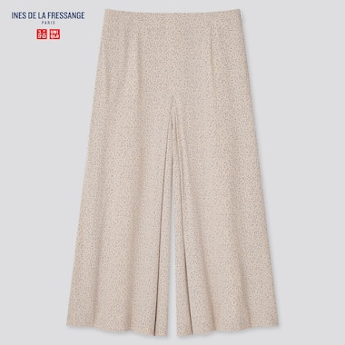 Women Rayon Skirt Pants (Ines De La Fressange), Beige, Medium