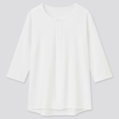 Men Front Open Crew Neck Long Sleeved T-Shirt