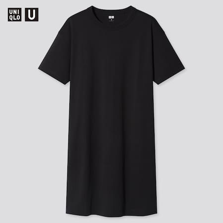 Women Uniqlo U Crew Neck Short Sleeved T-Shirt Dress