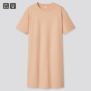 Damen UNIQLO U Kurzärmliges T-Shirt-Kleid