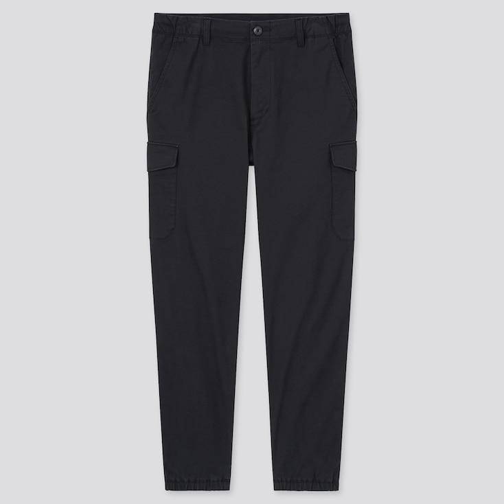 Men Cargo Jogger Pants, Black, Large