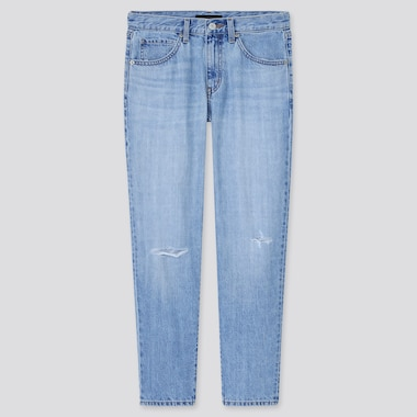 Women Relaxed Tapered Ankle Jeans (Tall) (Online Exclusive), Blue, Medium