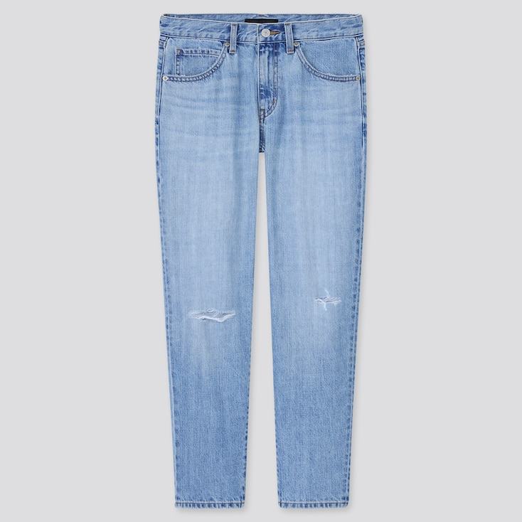Women Relaxed Tapered Ankle Jeans (Tall) (Online Exclusive), Blue, Large