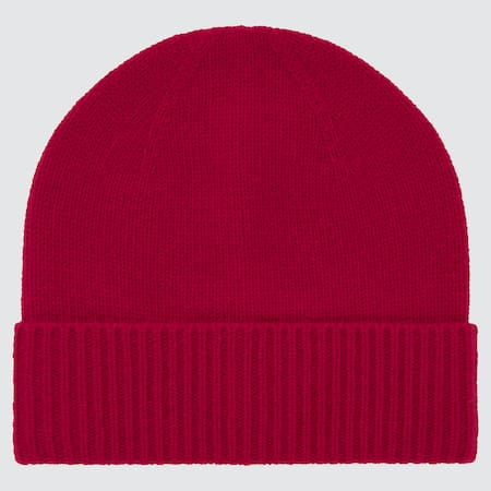 100% Cashmere Knitted Beanie Hat