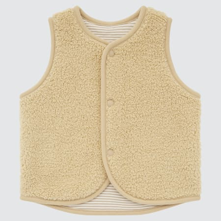 BABIES NEWBORN Pile Lined Reversible Fleece Vest