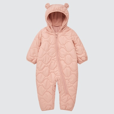 NEWBORN WARM PADDED LONG-SLEEVE ONE-PIECE OUTFIT