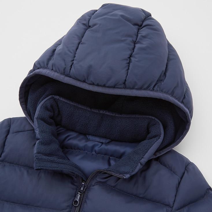 Toddler Light Warm Padded Full-Zip Parka, Blue, Large