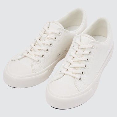 COTTON CANVAS LACE-UP SNEAKERS