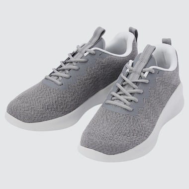 KNITTED LACE-UP SNEAKERS