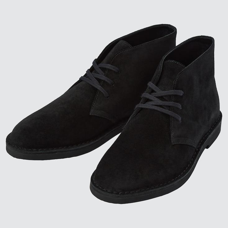 Men Chukka Boots, Black, Large
