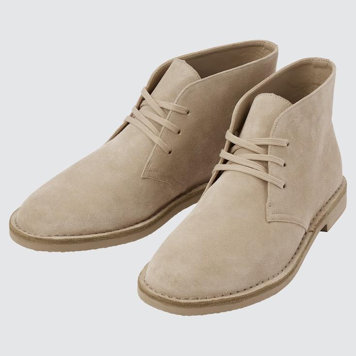 Men Chukka Boots, Beige, Large
