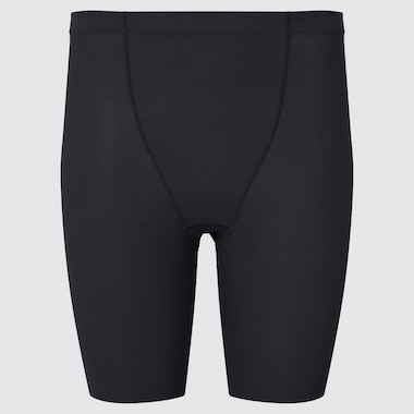 Women Airism Body Shaper Non-Lined Half Shorts, Black, Medium