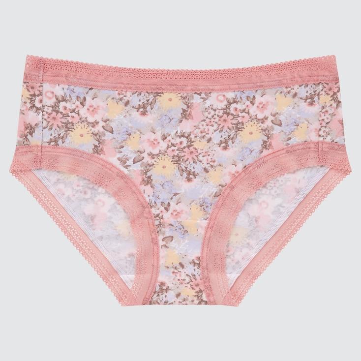 Women Flower Hiphuggers, Pink, Large