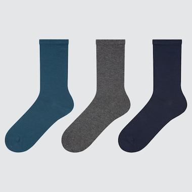 Women Socks (3 Pairs), Blue, Medium