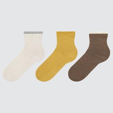 Women Relaxed Socks (3 Pairs), Natural, Medium