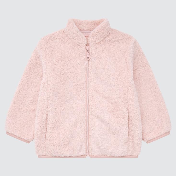 Toddler Fluffy Yarn Fleece Full-Zip Jacket, Pink, Large