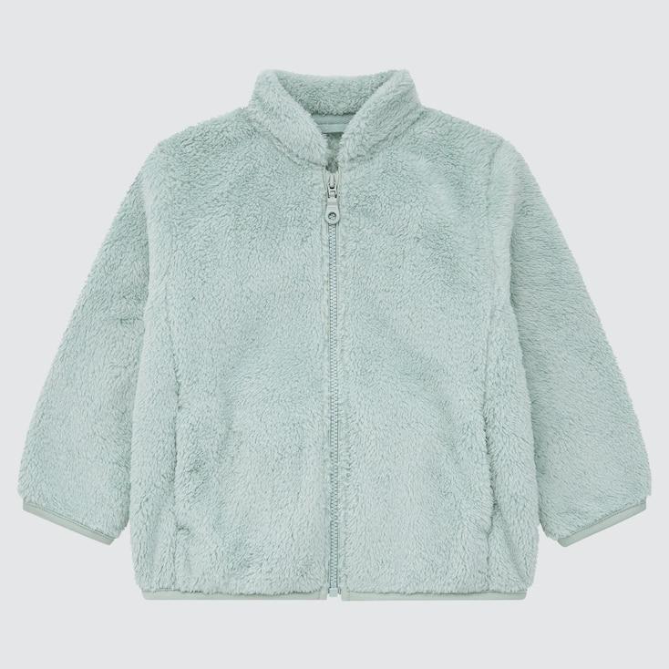 Toddler Fluffy Yarn Fleece Full-Zip Jacket, Green, Large