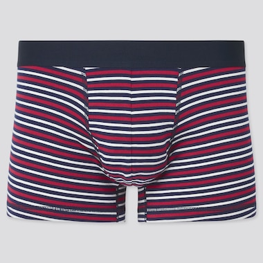 Men Supima Cotton Low Rise Striped Boxer Shorts