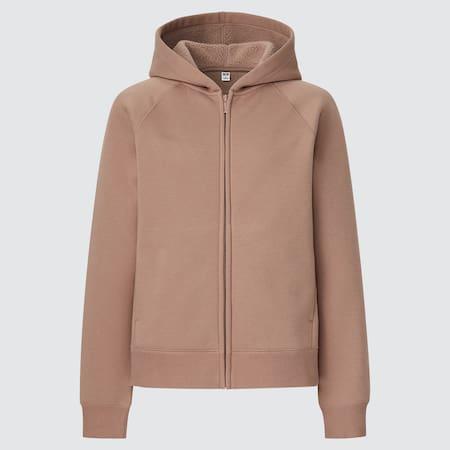 Women Soft Pile Lined Sweat Zipped Hoodie