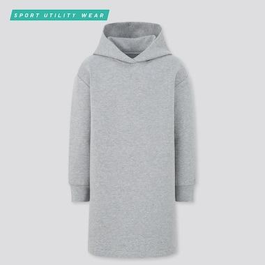 Girls Ultra Stretch Sweat Dress, Gray, Medium