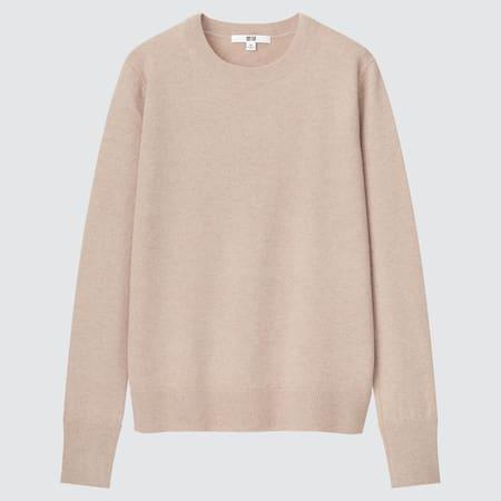 Jersey 100% Cashmere Cuello Redondo Mujer