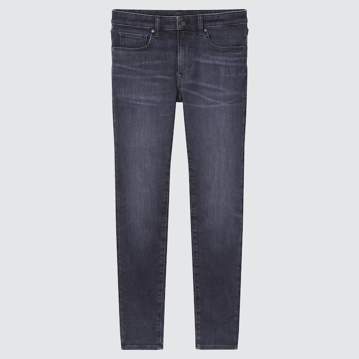 Men Ultra Stretch Skinny-Fit Jeans, Gray, Large