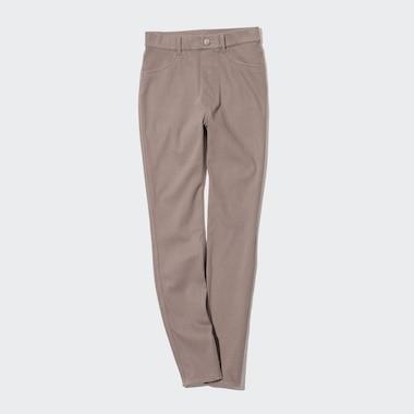 Women Ultra Stretch High-Rise Leggings Pants, Brown, Medium