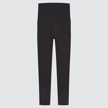 Women Maternity Ultra Stretch Leggings Pants, Black, Medium