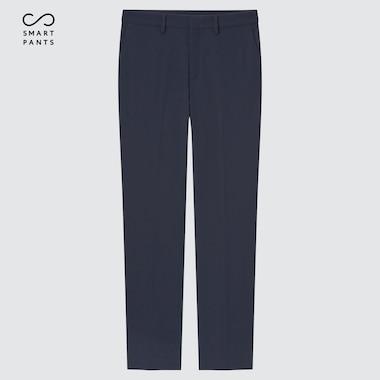 Women Smart 2-Way Stretch Premium Beauty Straight Pants, Navy, Medium