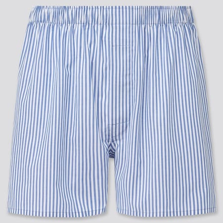 Men Woven Striped Boxer Shorts