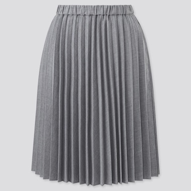 Girls Pleated Checked Skirt