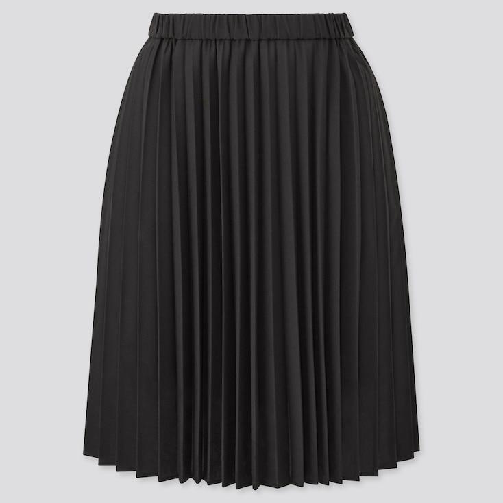 Girls Pleated Skirt, Black, Large