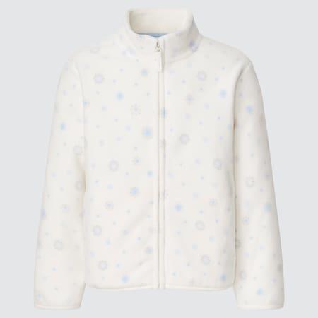 Kids Fleece Printed Zipped Jacket