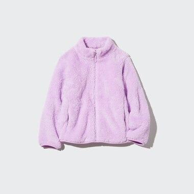 KIDS FLUFFY YARN FLEECE FULL-ZIP JACKET